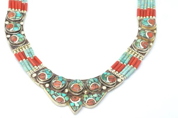Collar Silver 925, Vintage Look with Beads
