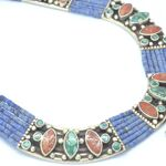Collar Silver 925, Vintage Look with Blue Lapis 2